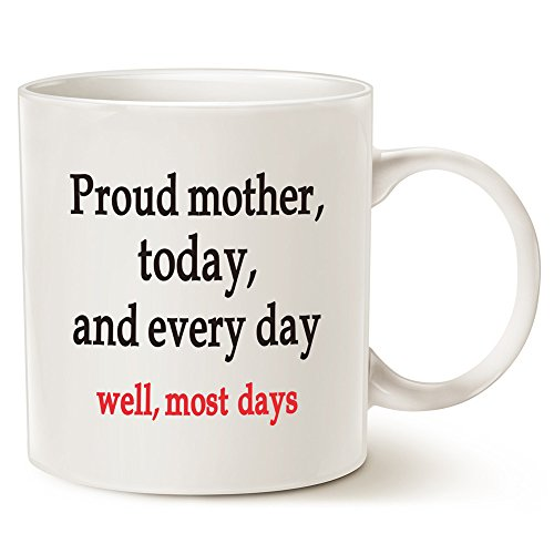 Christmas Gifts Mom Coffee Mug, Best Holiday and Birthday Gifts for Mom, Mother, Grandma, 14 Oz by LaTazas
