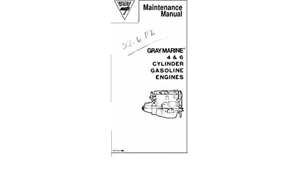 amazon com gray marine vintage 4 6 cylinder inboard gas engine rh amazon com Marine Engine Design Marine Diesel Engine Turbo Diagram