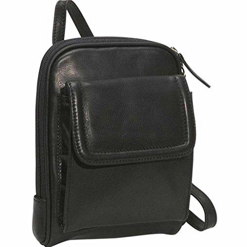 Osgoode Marley Cashmere Leather Mini Organizer Black (Marley Leather Pocket Osgoode)