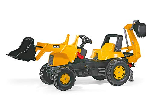 rolly toys JCB Construction Pedal Tractor: Backhoe Loader (Front Loader and Excavator/Digger), Youth Ages 3+