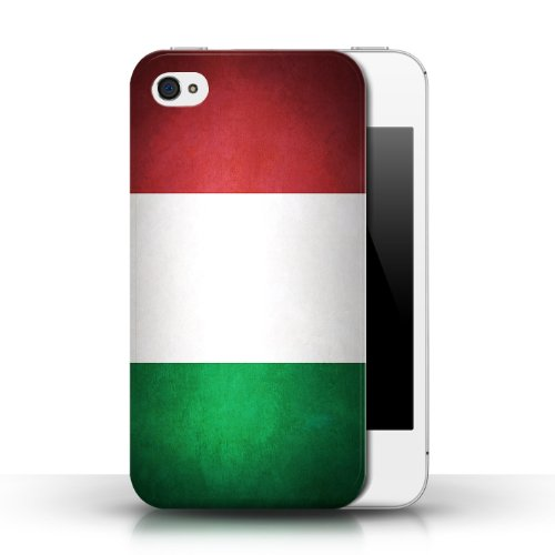 Etui / Coque pour Apple iPhone 4/4S / Italie/italien conception / Collection de Drapeau