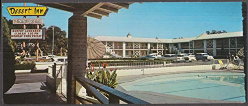 (Desert Inn Downtown Motor Hotel Albuquerque NM long postcard 1965)