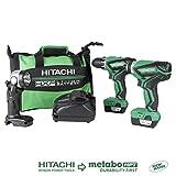 Hitachi KC10DFL2 12-Volt Peak Cordless Lithium Ion Driver Drill and Impact Driver...