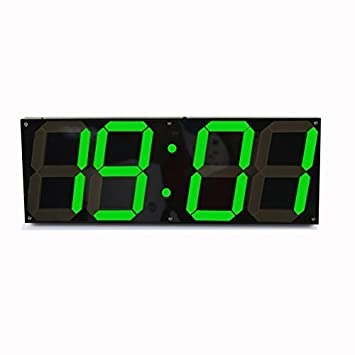 redlution grandes LED reloj Digital reloj de pared Mando a distancia Jumbo grandes números 3d Bosquejo