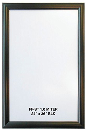 Alpina Manufacturing 24x36 Black Aluminum Snap Frame 1.0 Profile, Wall Mounted