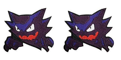 Classic Ghost Pokemon Haunter 2-Pack Embroidered Iron/Sew on Badge DIY Appliques Patch by Outlander (Captain America Halloween Costume Diy)
