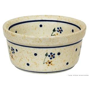 Hand-Decorated Polish Pottery Ragout Bowl 100ml Dip Bowl Würzf LEISCH Crème Brûlée