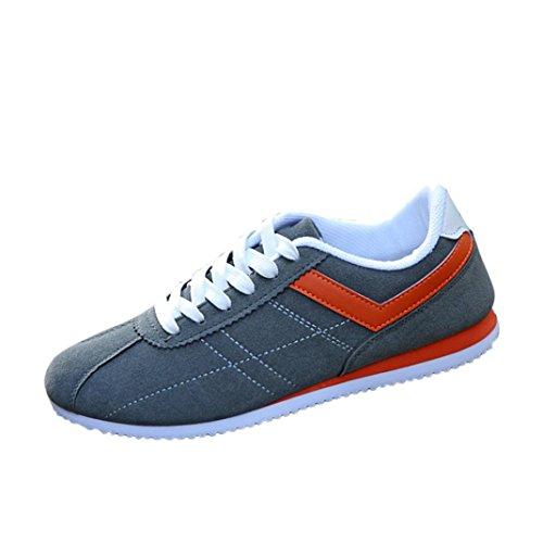 uomini materiale scarpe e superiore di il tempo degli basso inverno per Grigio di taglio sportive Longra libero Lace Gregge autunno up zXnw8q4xE6