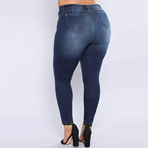 Cintura Estiramiento D 3 Las Mujeres De Blue Hx Alta Basic Fashion Vaqueros Pantalones 1HvY8Wn