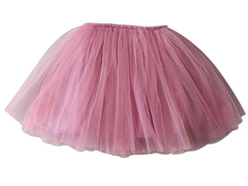 Aivtalk Girls Fluffy Skirt Soft Voile Tutu For Ballet Dance Dress 4-5T Pink (Skirt Voile)