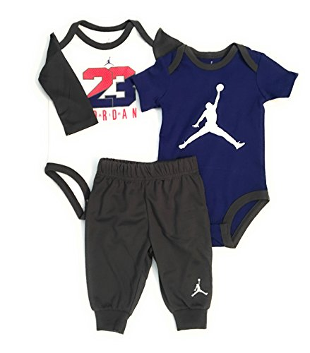 Jordan Jumpman Infant Boys 3-Piece Bodysuit and Pants Set Dark Grey Size 3-6 - Kids Jordans Clothing For