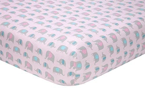 Sadie & Scout Little Meadow Crib Sheet, Elephant