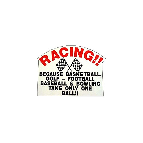Racing Takes Balls! Vintage Reproduction Drag Racing Hot Rod Decal Bumper Sticker (Racing Rod)