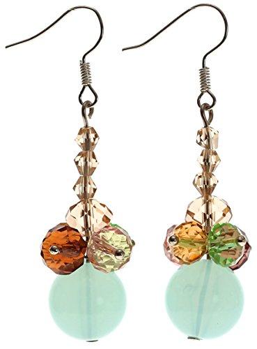 (Lova Jewelry Aqua Handmade Murano Glass Earrings.)