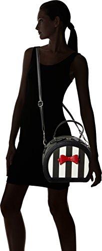 Lola Ramona Odette, Borsa bowling donna nero Nero (Black/Cream)