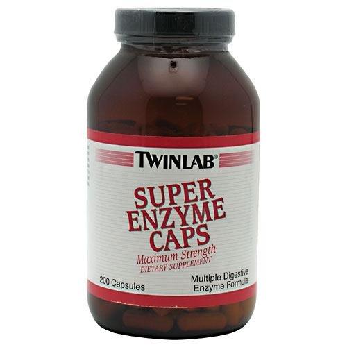 TwinLab - Super Enzyme Caps, 200 capsules (Twinlab Super Enzyme Caps)
