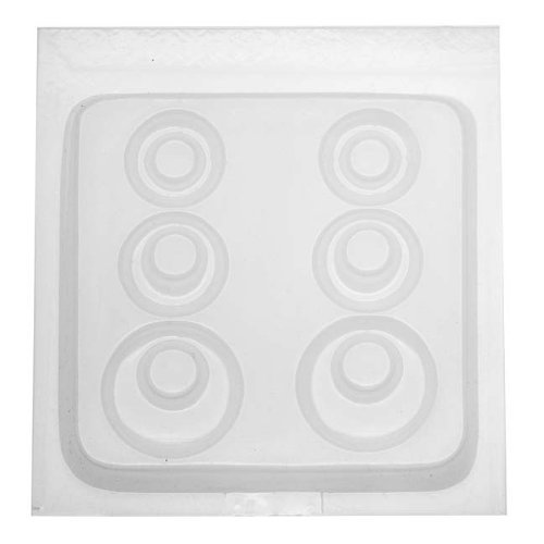 (Yaley 3-Pair Resin Jewelry Reusable Mold 6 Plastic Earrings, 1/2 by 7-Inch)