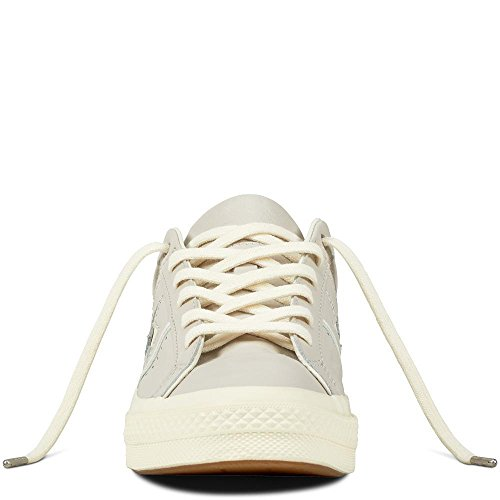 Converse Lifestyle One Star Ox Leather, Scarpe da Fitness Unisex – Adulto Beige (Pale Putty/Pale Quartz/Egret 036)