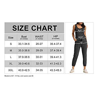 AMPOSH Women's Sleeveless Jumpsuit Casual Tank Romper Tapered Leg with Pockets: Clothing