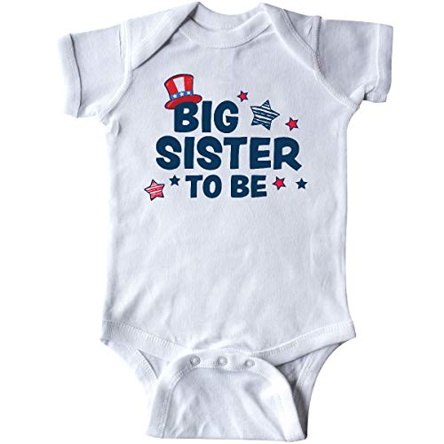inktastic - Big Sister to Be with Stars Infant Creeper 6 Months White 35f08