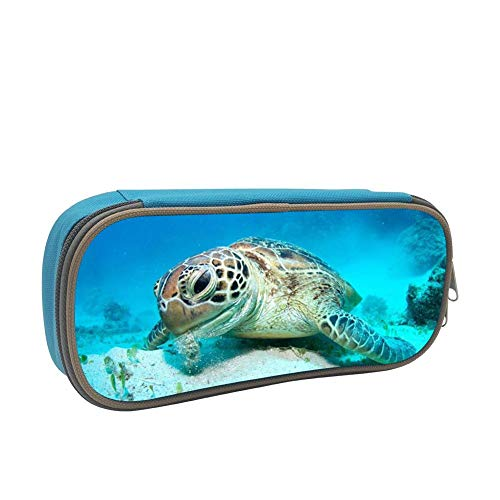 Price comparison product image Pen Bag Turtle Eating Underwater Pencil Case Multicolor Office Storage Students Stationery with Double Zipper