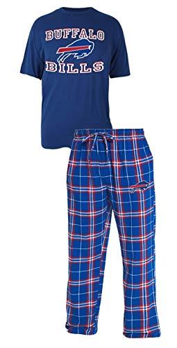 new style 1ede5 1868d Concepts Sport Buffalo Bills NFL Great Duo Men's T-Shirt & Flannel Pajama  Sleep Set