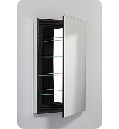 (Robern PLM2440WRE Pl-Series Right-Side Flat Mirror Medicine Cabinet with Outlet White)