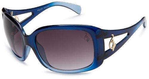 baby phat Women's 2052 Rectangular Sunglasses,Blue Frame/Black Lens,one - Phat Sunglasses