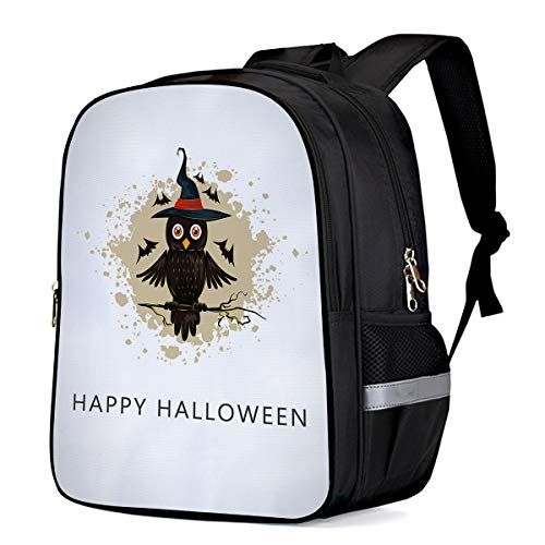 School Backpack for Boys/Girls/Kindergartener Halloween Owl Witch Personalized