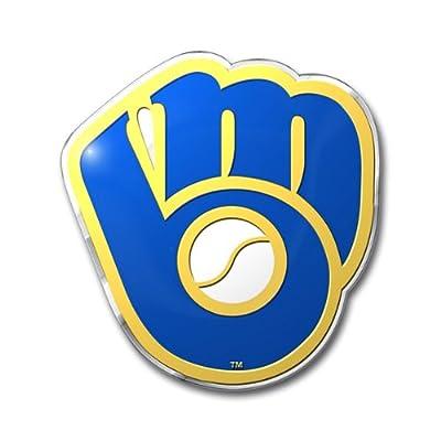 MLB Milwaukee Brewers Die Cut Color Automobile Emblem