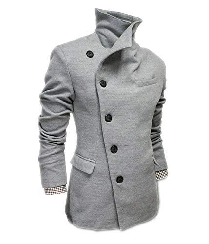 Collar Mens Winter Autumn Jacket Grau Huixin Jacket Apparel Winter Coat Jacket Winter Trench Parka Coat Wool Coat Men Coat Men Elegant Stand xvRqw4P