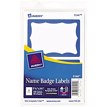 avery template 5147 - avery white adhesive name badges 2 1 3 x 3