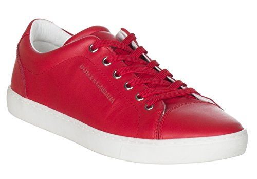 Dolce & Gabbana Men's Red Leather CS0924 Sneakers Shoes, Red, US 10.5/IT 9.5/EU - Sneakers And Gabbana For Dolce Men