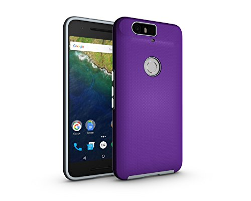 Nexus 6P Case,Berry (TM) [Non-slip] [Drop Protection] [Shock Proof] [Dual Lawyer] Hybrid Defender Armor Full Body Protective Rugged Holster Case Cover for Nexus 6P Purple