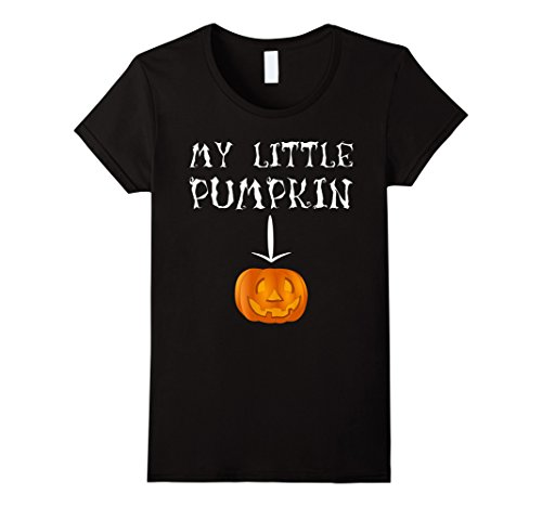 Womens Womens My Little Pumpkin TShirt Halloween Maternity Costume Large (Halloween Outfits For Pregnant Women)