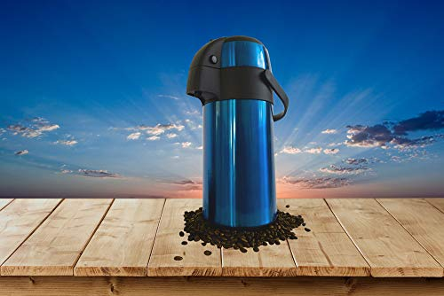 TherMite Airpot Coffee/Beverage Dispenser with Pump. [Midnight Blue], 3 Liter (102 oz), Insulated Double-Walled Stainless Steel Thermal Carafe to Keep Drinks Hot or Cold by Thermite (Image #6)
