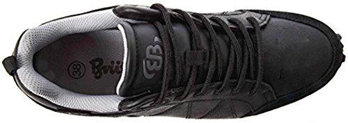 Brütting Sneaker Frederico Leisure Genuine Leather Waterproof Black Grey 45 ngXFS