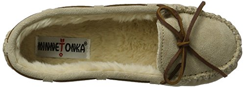 Cally Slipper Stone Fur Faux Minnetonka Women's Suede O5wqS17W