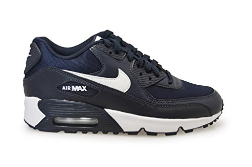 Nike Air Max 90 Mesh (GS) Sneaker Current Collection 2016 different colors Obsidian White Black 403