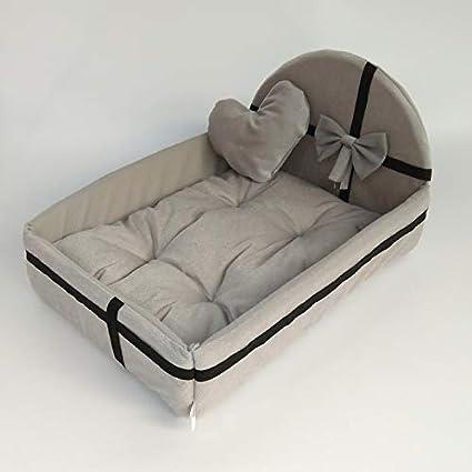 YYZ Invierno Felpa Cama de Perro, Suave Confortable Desmontable para Gatos y Perros pequeños y