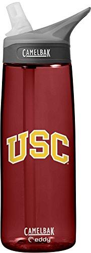 NCAA USC Trojans Unisex CamelBak Eddy 75L Collegiate Water Bottle, Cardinal, 75 Liter