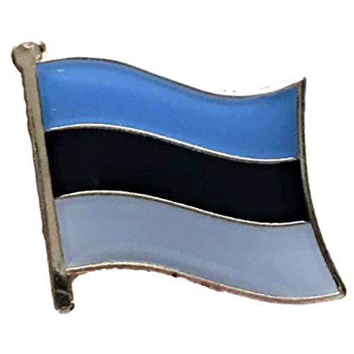 """Backwoods Barnaby Estonia Flag Pin/International Travel Flags Collection (0.75"""" x 0.75"""")"""