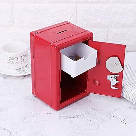 Wilk Caja de Ahorro Seguros metálicas de Seguridad del Banco del Dinero en Efectivo Fuerte con 2 Llaves Red de Accesorios Duradero: Amazon.es: Hogar