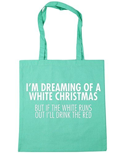 of Runs I'll I'm 10 Out Red litres HippoWarehouse a White 42cm Bag Mint Christmas Tote Beach x38cm Shopping The But Gym If The Dreaming Drink White 7EAwqfvA