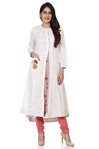 BIBA Women's Off White Cotton Kurta Size 36