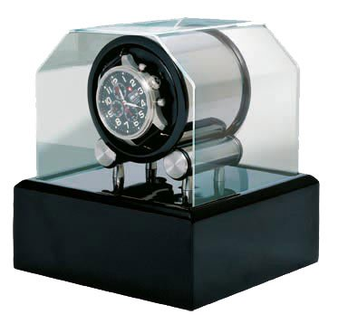 Futura 1 Black Lacquer Watch Winder by Orbita Model W34002 (Lacquer Black Drum)