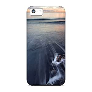 Premium Protection Black Beach Case Cover For Iphone 5c- Retail Packaging
