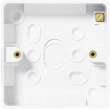 Bulk Hardware bh04935 Moldeado Interruptor de luz Superficie Cajas de conexión empotrable (20 mm de Profundidad, Juego de 5 Piezas: Amazon.es: Bricolaje y herramientas