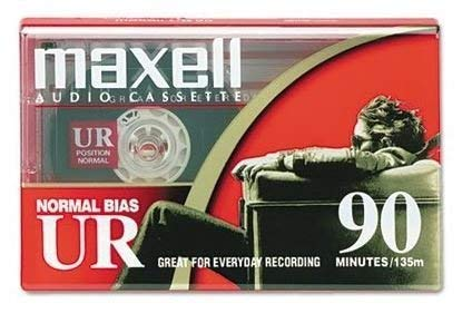 Vintage Blank Maxell Cassette Tape UR90 Normal Bais IEC Type 1 SEALED