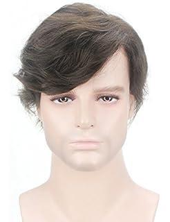 Lordhair 100% Menschenhaar Indisches Haar Perücken Männer Toupet Herren Französisch Spitze Darkest Brown 2 # 100 Echthaar Perücke